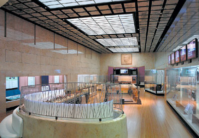 昭和天皇記念館 展示室全景